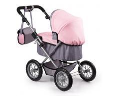 Bayer Design 1300800 - Passeggino per Bambole Trendy, Colore: Grigio/Rosa, 46 cm