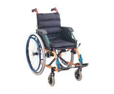 Carrozzina Pediatrica GIMA, sedia a rotelle per bambini, sedura 35cm, tessuto nero, portata massima 100 kg