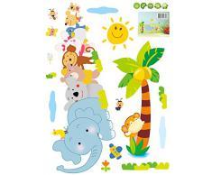 ADESIVO DA PARETE Murale DECORAZIONE Stickers Camera Bambini Bimba ANIMALI AY639