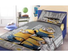 Faro Minions Biancheria da letto per bambini 140Â x 200Â cm federa 70Â x 90Â cm le Buddies, Cotone, Multicolore, 200Â x 140Â cm