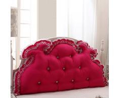 Schienale Del Comodino stile coreano principessa sposa letto comodino grande cuscino grande cuscino dello schienale è rimovibile e lavabile ( Colore : Rosso , dimensioni : 1.5M )