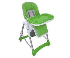 Babyfield - Seggiolone regolabile per neonati - Sedia Verde con Tablet per bambini di 6 mesi a 3 anni
