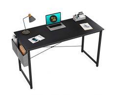 ZIK Scrivania per Computer, Laptop, PC, per Cameretta e Ufficio, Tasca Organizer – Nera 100x50x76h
