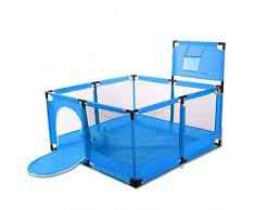 Recinto Bambini Grande Box Porta Giochi per Bambini Portatile, Play Yard Pieghevole Divisorio per Sala Oxford Cloth (Color : Blue)