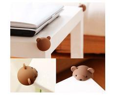 hou zhi liang Coffee Bear Animal Style paraspigoli spigolo cuscino protezione per bambini paraspigoli sicurezza tavolo scrivania angolo guardia 2 pezzi