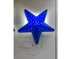 Ikea - Lampada da parete a forma di stella per cameretta, colore: Blu
