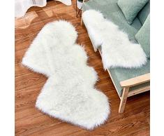 Junjie Tappeti di lusso morbidi in pelliccia fuzzy Tappeti finti in pelle di montone sintetico Soffici tappeti per bambini moderni per soggiorno Camera da letto Divano Comodino