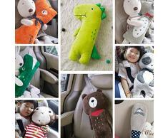 lujiaoshout 23 * 50cm dell'automobile della bambola della cintura cuscino del giocattolo della cintura di sicurezza ammortizzatore regolabile Pad copertura per i bambini, i bambini