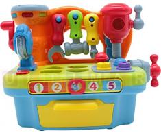 Strumento per i bambini con il suono e la luce - Workshop - Workbench Giocattoli - Bambini banco di lavoro - Utensili Bambini - Bambini Workshop - bussare giocattolo - martelli giocattolo