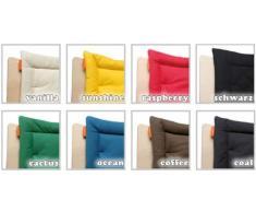 Aktion Leander - Seggiolone con protezione e imbottitura disponibile in colori assortiti, colore: Nero