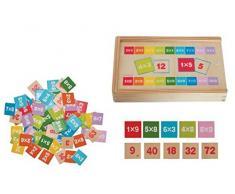 Woodyland - Gioco in legno per imparare a moltiplicare e dividere 81 pz.