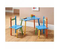Kids Nursery Room Furniture-Libreria Scaffale a 3 piani di tavolo e sedia-Appendiabiti con cavalletto, idea regalo