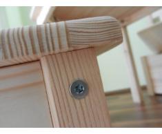 Best of JAM - Tavolino con 2 sedie per bambini in legno massiccio, non trattato