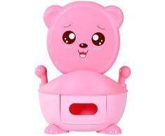Vasino per bambini sedile con manigile, vasino per bambini removibile e lavabile (rosa)