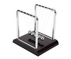 Newton Culla, Forma Quadrata Equilibrio Pendolo Palla Sfere di Metallo Solido Scrivania Classica Giocattoli di Fisica Ornamento per la Decorazione Domestica, Regalo per Bambini(M)