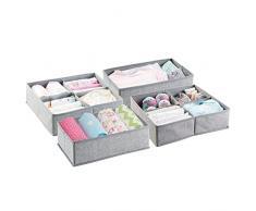 mDesign Set da 4 contenitori portaoggetti – in Materiale Sintetico – Ideale cassettiera per l'Armadio dei Bambini, Organizer Armadio, per Cosmetici, Pannolini e Medicine Tanto Altro.