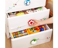 Cassettiera per la stanzetta del neonati e bambini, 4 cassetti grandi e 2 piccoli,
