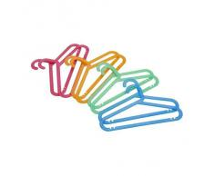 IKEA BAGIS - Appendiabiti per bambini, misura piccola, colori assortiti, confezione da 8