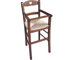 Sic – Seggiolone per bambino con protezione in noce – Seduta in paglia
