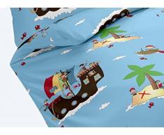 Dream Art Kids 143604 Biancheria da letto per bambini, set da 2, blu, 135x200 (3)