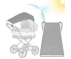 Lionelo Greet 2 in 1 passeggino leggero regorabile pieghevole fronte mamma con navicella ovetto con borsa zanzariera adattatori universali da 0 a 15 kg grigio
