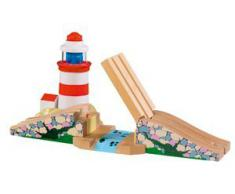 Fun Toys I+S 41030194 - Faro con effetto sonoro per ferrovia in legno