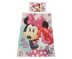 Tessili per la casa Disney per Bambini, Set di Biancheria da Letto con Motivi di Frozen, Cars, Winnie The Pooh e Minnie Mouse, Biancheria da Letto per Ragazzi e Ragazze (Minnie Mouse Il Migliore)