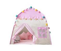 Tenda Per Bambini Cameretta - 130 100 130 Cm Wigwam Per Uso Interno Per Bambini Di Alta Qualità. (rosa)