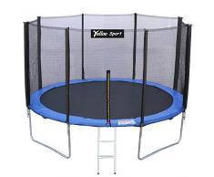 YELLOO Yelloosport Trampolino Elastico Diametro 370 cm Tappeto Salto da Giardino per Bambini e Adulti