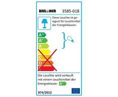 Briloner Leuchten Plafoniera LED Applique GU10, 3 W, Cromo, 12 x 12 x 9 cm
