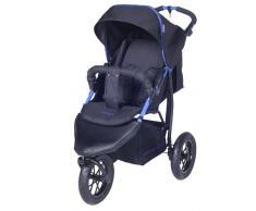 knorr-baby 883004 Joggy S - Passeggino sportivo con parasole, colore: Nero/blu