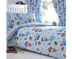 Bluezoo 'Pirates'-Set di biancheria da letto per bambini, 50% cotone/50% poliestere/ in cotone/poliestere, multicolore, Singolo