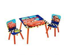 Worlds Apart (WAP) Disney Cars Tavolino e Due Sedie, Legno_Composito, Multicolore, 59x59x52.5 cm, 3 unità