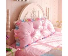 famiglia, letto +, cuscino del collo versione coreana del cuscino da letto di cotone morbido sacchetto coreano principessa letto testata contro il cuscino dello schienale doppio estraibile e lavabile Viaggi cuscin ( colore : O , dimensioni : M )
