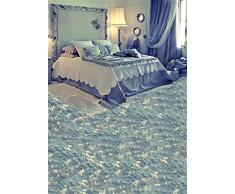 1,5 x 2,1 m indoor Baby Room fondale fotografico azzurro stile principessa letto panno morbido tappeti vinile fondali fotografia per ragazze