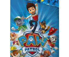 Character World Paw Patrol Set di biancheria da letto per bambini, reversibile, Sacco Copripiumino 100 x 135 cm, Federa per cuscino 40 x 60 cm, Cotone/Renforcé