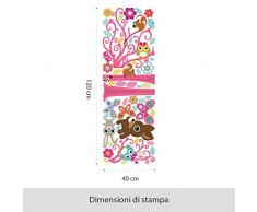 Wall Art R00392Â Wall Sticker per bambini Foresta magica, Wallpaper, Multicolore, 120Â X 40Â X CM