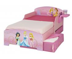 Worlds Apart (WAP) 499DIR01EM Disney Princess Lettino con Cassetto Estraibile e Tavolino Laterale, MDF, Rosa