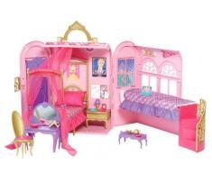 Mattel V6823 - Barbie Principessa, Camera da letto e bagno