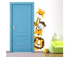 Adesivi Creativi, Adesivo murale Animaletti dispettosi 01 Dimensioni 46 X 160 cm   Wall Stickers per la decorazione della cameretta dei bimbi