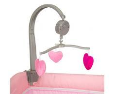 Hauck 4007923607596 - Lettino da viaggio Babycenter con fasciatoio e fasciatoio incluso, colore: Rosa