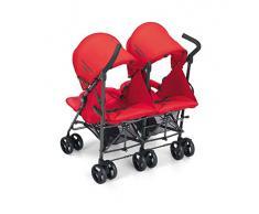 CAM Il mondo del bambino art.850/24 Passeggino Twin Flip, Rosso