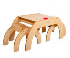 Little Helper FunStation - Tavolino per bambini piccoli con 2 sedie, colore: Beige