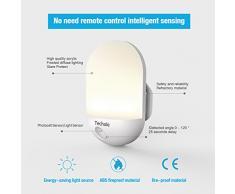 Luce Notturna LED, Techole Automatiche Lampade da Presa con Sensore di Luce, Plug-and-Play, Lampada Notturna per Bambini, Vivai, Soggiorno, Corridoi, Bagno, Cucina, Scale, Garage e altro-Gialla