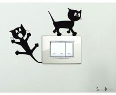 Adesivi per interruttore spine placche Adesivo Simpatici Gattini Wall Stickers decorativo Adesivi Murali Decorazione Camerette Bambini