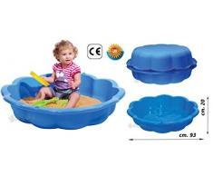 sabbiera bambini combinabile con coperchio 75 litri piscinetta giardino bambini