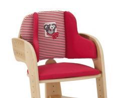Herlag H5068-362 - Riduttore imbottito per seggiolone Tipp Topp Comfort, a righe, colore: Rosso/Bianco