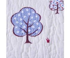 Beddingleer per bambine, in cotone rosa 150 x 200 cm singolo copriletto trapuntato patchwork, copriletto leggero bambini quattro stagioni