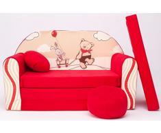 D26 + DIVANO bambini divano pieghevole divano letto matrimoniale Mini Strato 3-in-1 Baby Set + poltrona per bambini e ammortizzatore di sede + materasso