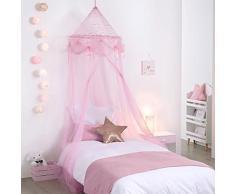Cielo di letto ragazza principessa rosa con stelle